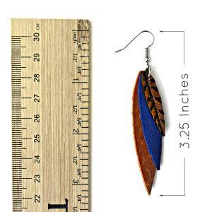 Feather Earrings Measurements