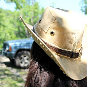 Rope Tooled Leather Hat Band