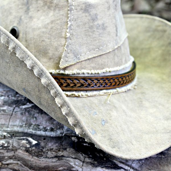 Tan Tooled Hat Band