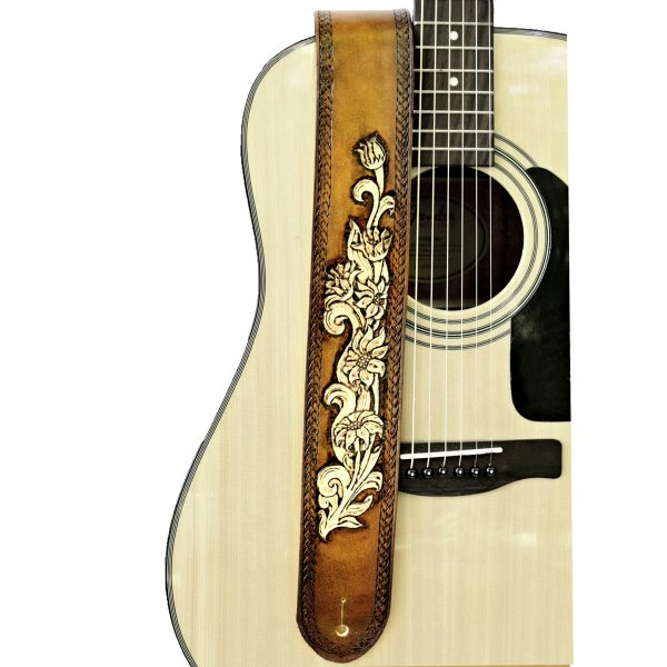 Wildflower Leather Guitar Strap