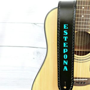 Personalized Guitar Strap Black