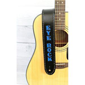 Personalized Black Guitar Strap