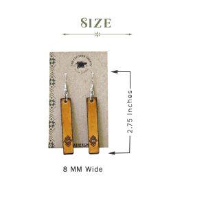 Rectangle Bar Earrings Measurement