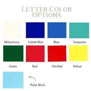 Letter Color Options