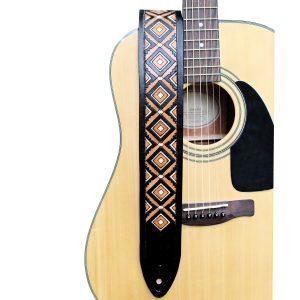 Western Diamondback Leather Guitar Strap