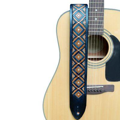 Blue Diamond Back Guitar Strap