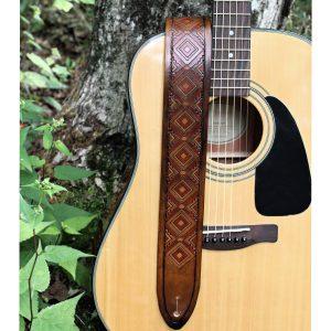 Brown Western Guitar Strap