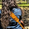 Leather Sunflower Guitar Strap