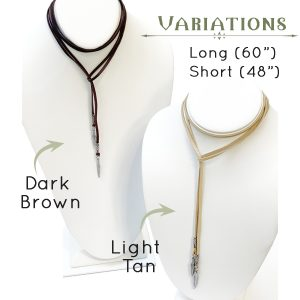 Long Feather Necklace Variations