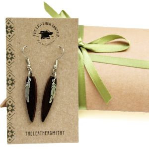 Feather Earrings with Gift Box